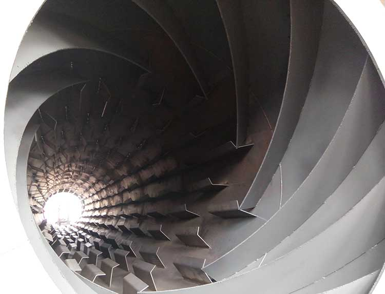 萤石粉烘干机内部结构图