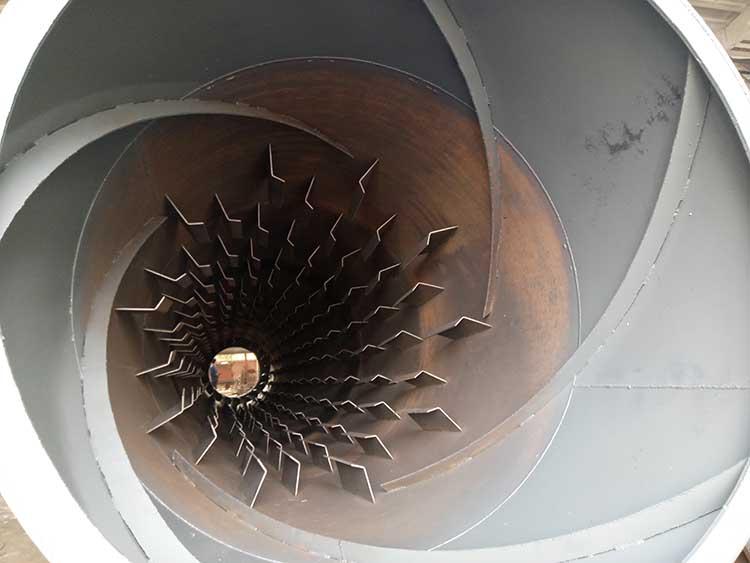 膨润土烘干机内部结构图