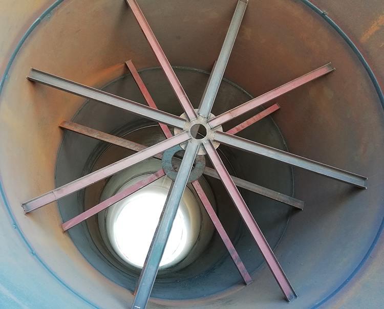 氧化(锌镁铝)、高岭土回转窑设备内部结构图