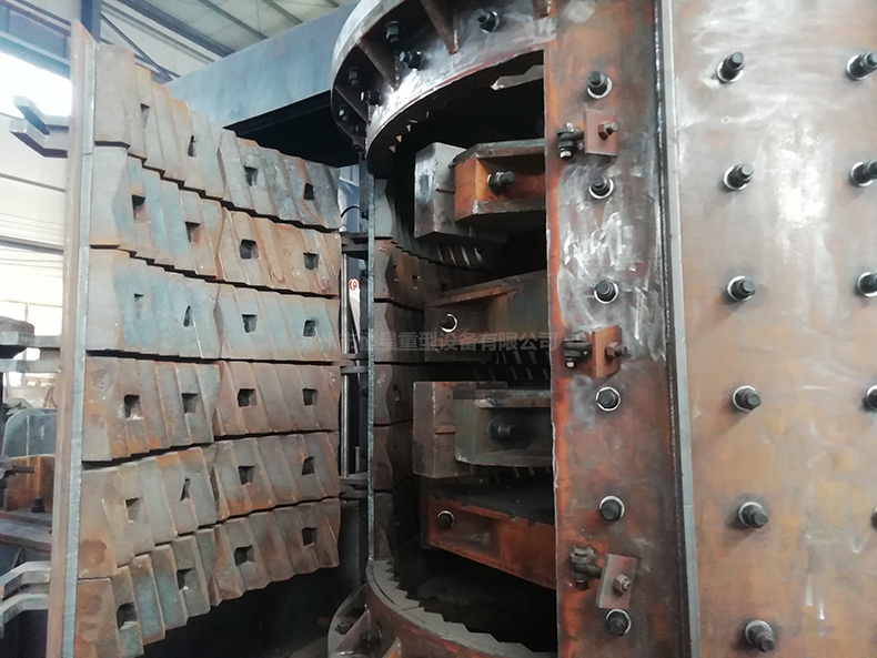 多级新型立式制砂机内部结构图