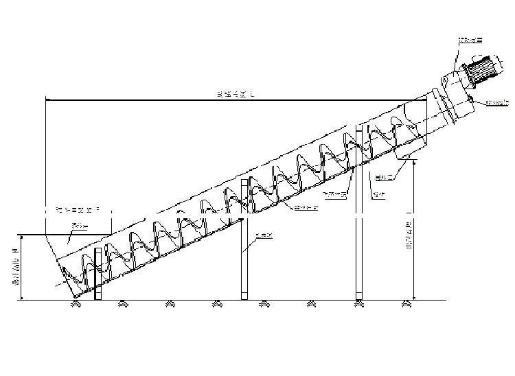 螺旋输送机工作原理图