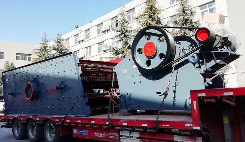 PEV系列欧版颚式破碎机发货现场图1